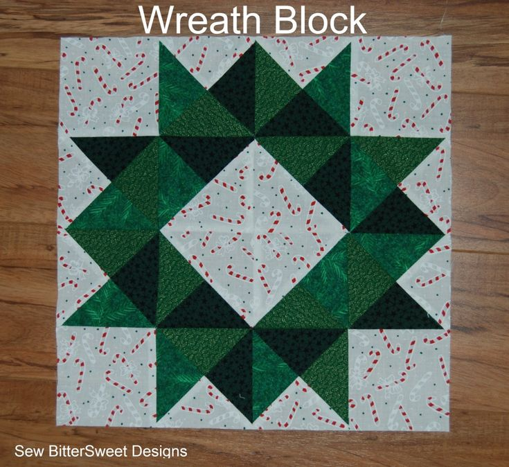Quilt Pattern For Christmas Wreath : 17 Best images about # Quilt Blocks: Christmas on Pinterest
