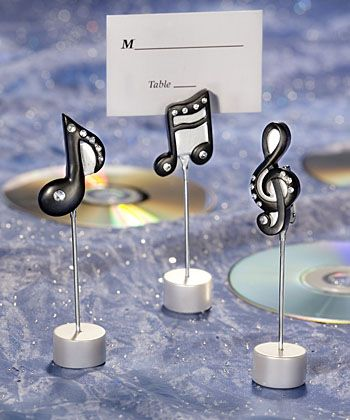 Music Note Place Card Holders