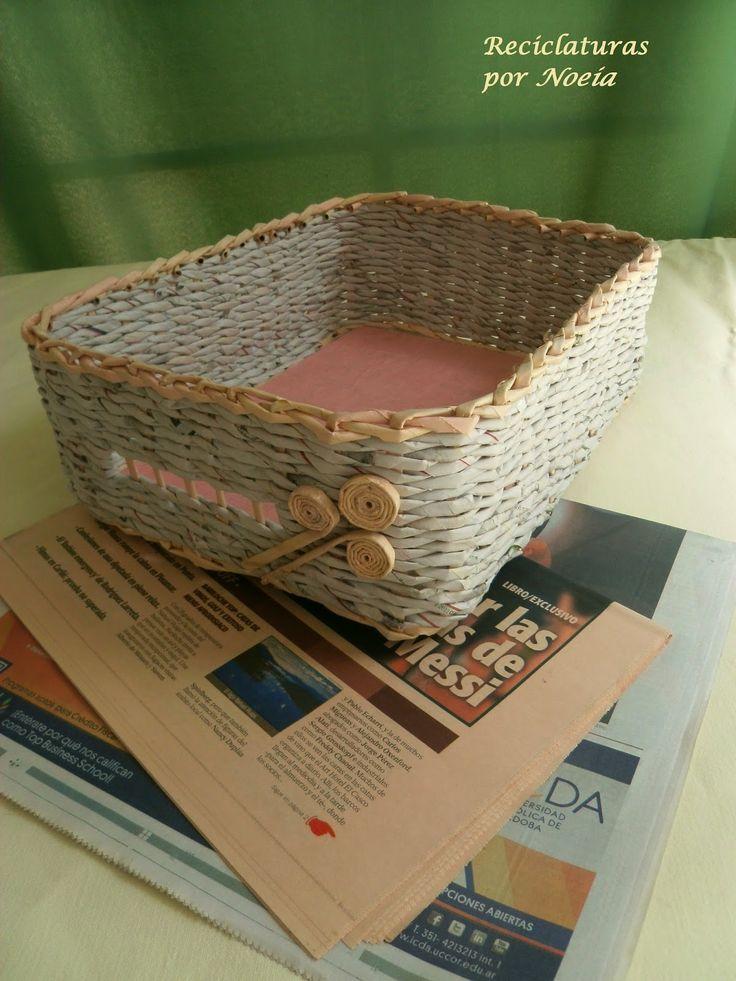 47 best images about mis propios trabajos on pinterest - Cestas de papel de periodico ...