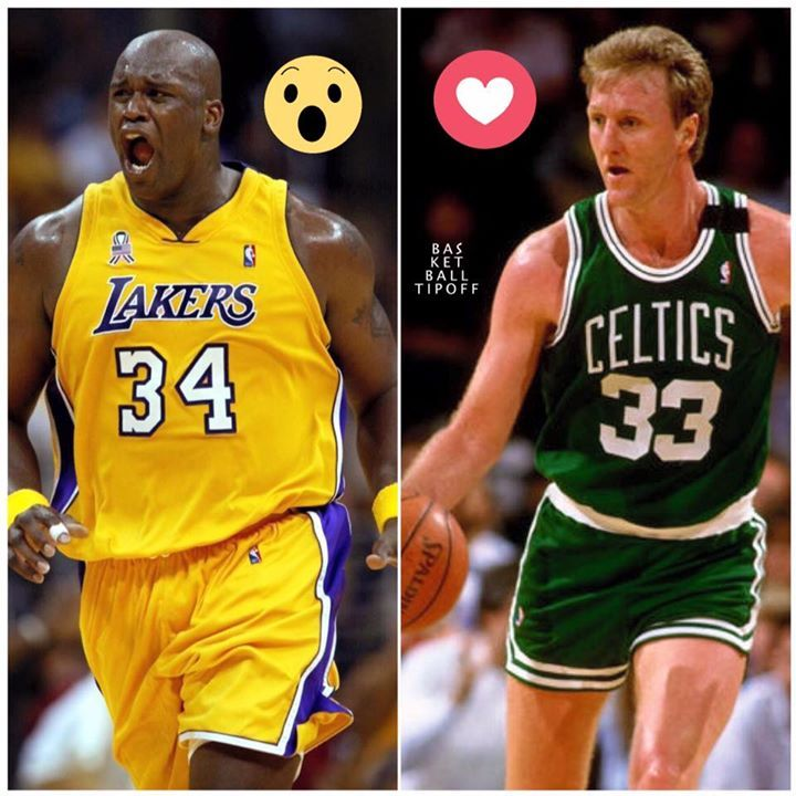 You have the chance to sign either Shaquille O' Neal or Larry Bird both in their primes to a multi year deal. Who would you sign to carry your team to the championship.   Shaq:  Bird:   - AC3