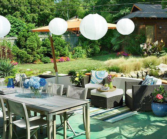 hydrangeas and chinese lanterns