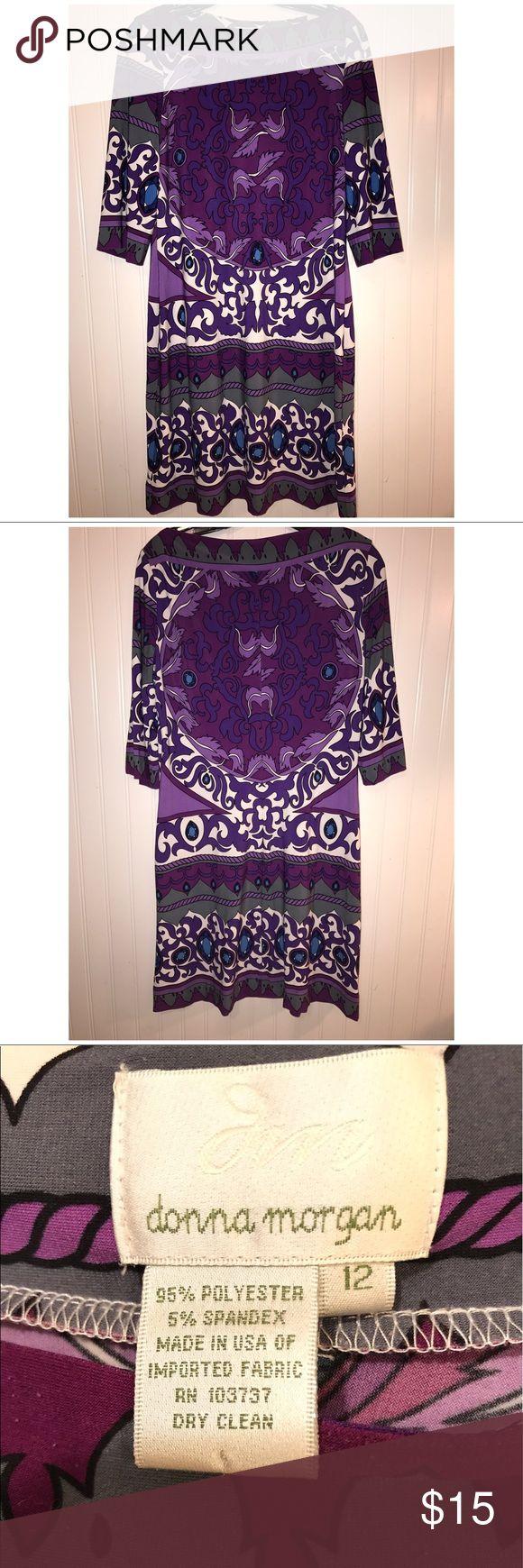Donna Morgan Pattern Dress Super comfortable 💗 Great condition Donna Morgan Dresses
