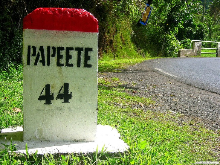 French Polynesia Country Part - 41: Mile Marker Out Near Papara. Tahiti French PolynesiaCountry ...
