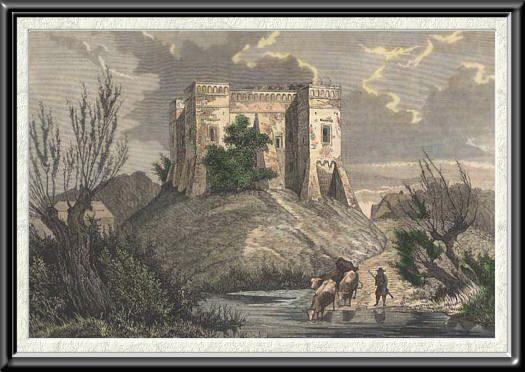 Rekonstrukcja lub stary widok zamku szymbark