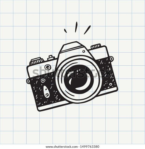 Photo Camera Doodle Icon Hand Drawn Stock Vector Royalty Free 1499763380 In 2021 Camera Doodle How To Draw Hands Camera Illustration