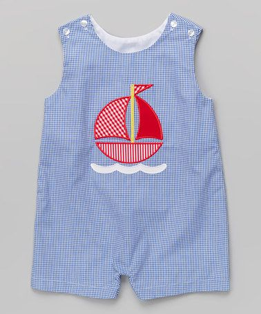 This Royal Blue Gingham Sailboat John Johns - Infant & Toddler is perfect! #zulilyfinds