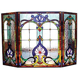 @Overstock - This elegant fireplace screen is a classic Victorian design. A welcome addition to any home decor, the screen is created from pieces of stained art glass and features cheerful shades of blue, green, gold, beige and clear water glass.http://www.overstock.com/Home-Garden/Victorian-Stained-Glass-Fireplace-Screen/5100914/product.html?CID=214117 $199.99