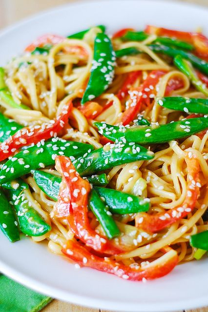 Asian Noodle Salad Recipe with homemade Peanut Sauce Salad Dressing ~ Light, refreshing, crunchy and easy-to-make
