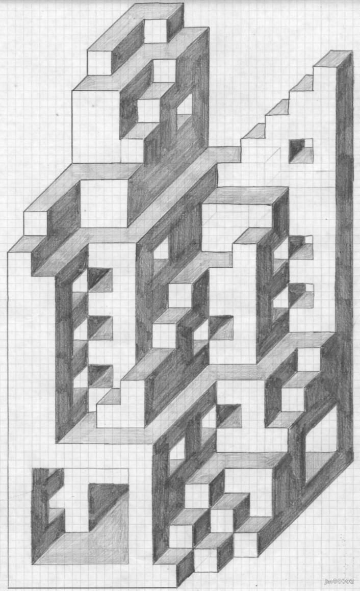 Dibujo Tridimensional Su Concepto Y Todo Lo Que Debes Saber De Esta Tecnica De Dibujo Dibujos De Geometria Periodo Geometrico Dibujos En Cuadricula