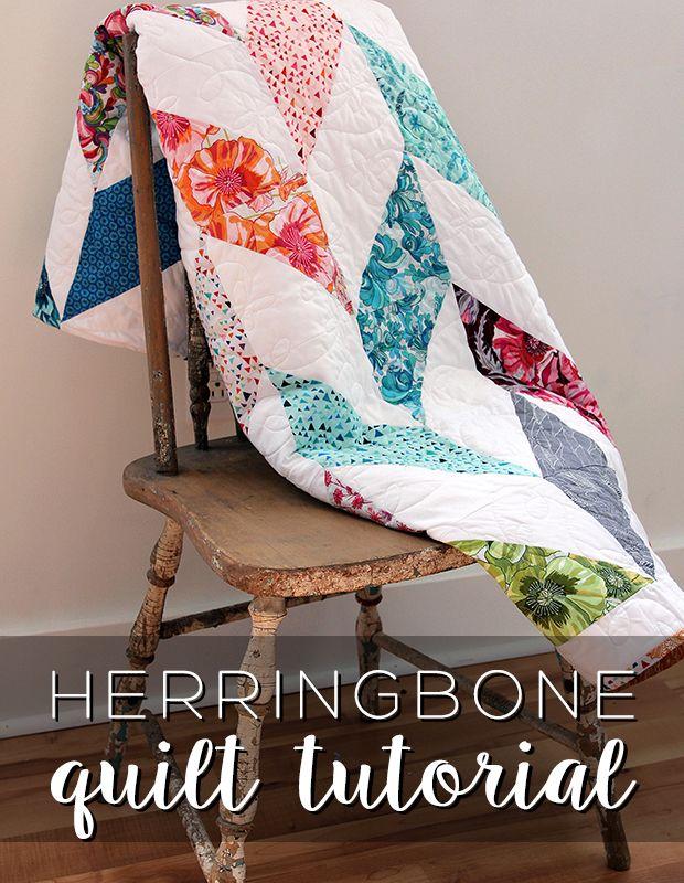 New Friday Tutorial: The Herringbone Quilt
