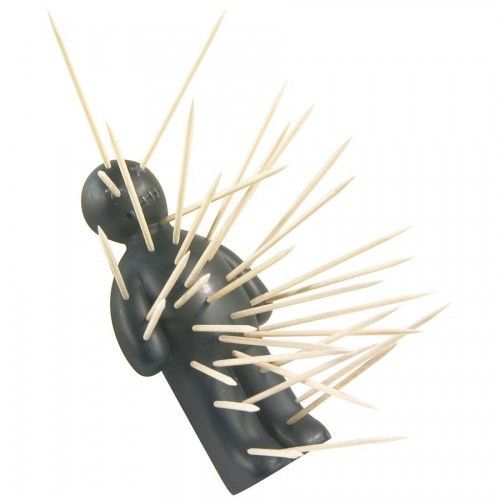 OUCH - The Voodoo Doll Toothpick Holder  on Yellow Octopus #ouch #voodoo #doll #toothpick #holder #halloween2014