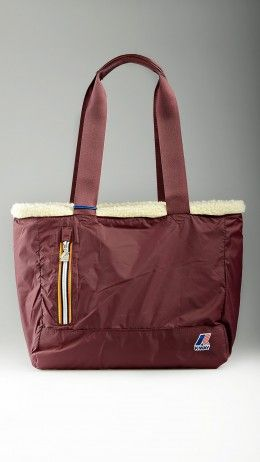 K-bear burgundy shopping bag