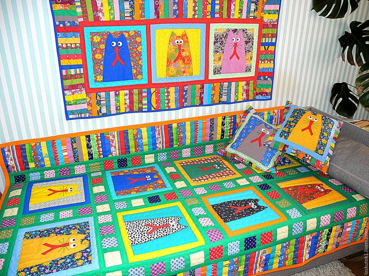 Купить интерьер детской комнаты в кошачьем стиле (лоскутное шитье,аппликация) - интерьер детской