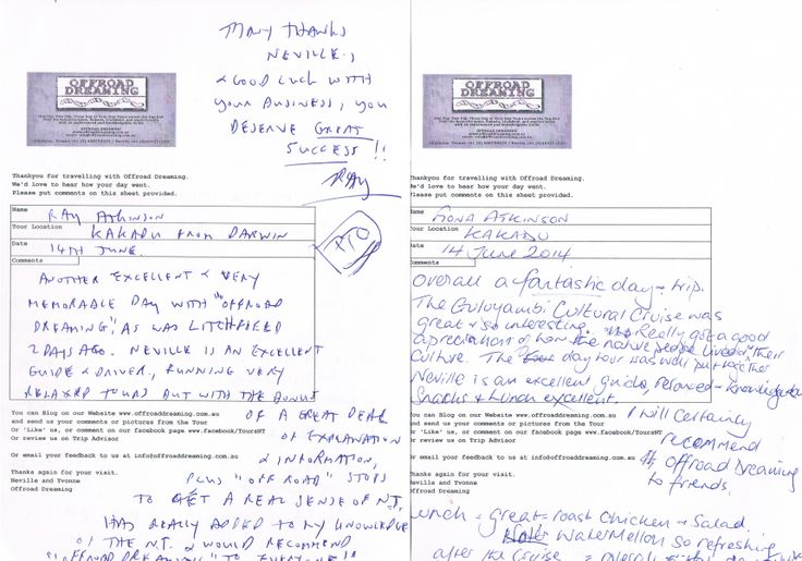 Feedback from Kakadu Day Tour with Offraod Dreaming