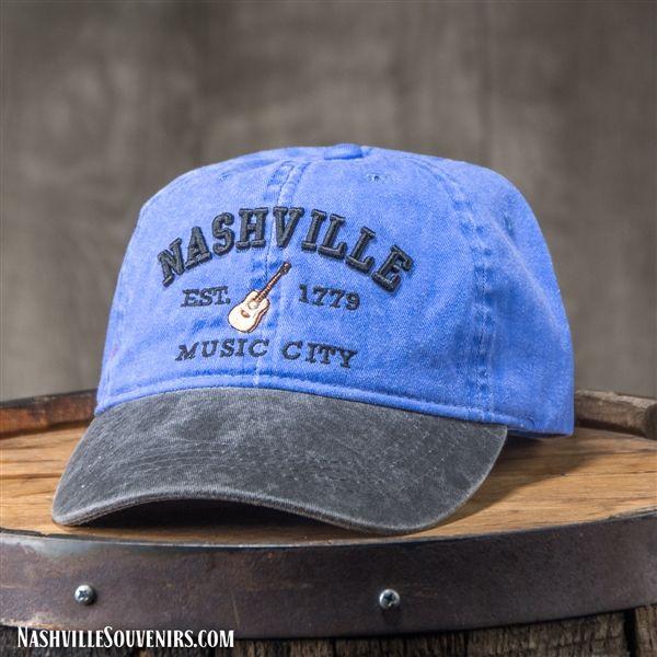 Nashville Est 1779 Music City Hat In Blue With Charcoal Bill Nashville Gifts Music City Nashville Nashville