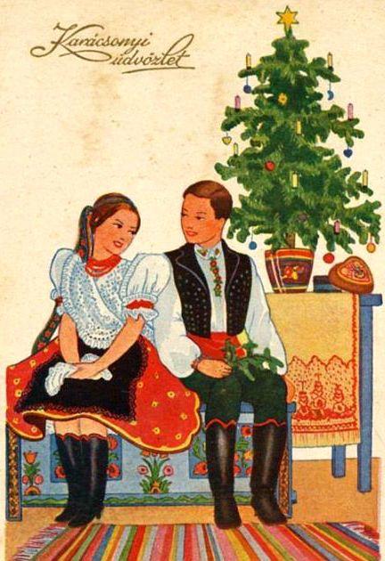 Hungarian Solstice (christmas) watercolor
