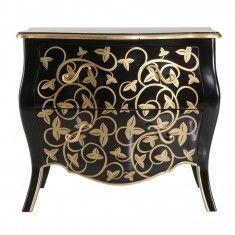 Klassiek dressoir zwart en goud