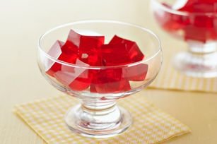Finger Gelatin recipe  3 pkg. (3 oz) jello  4 env. Knox unflavored gelatine  1 qt. boiling water  Chill in 9x13 pan until firm  Cut into small blocks