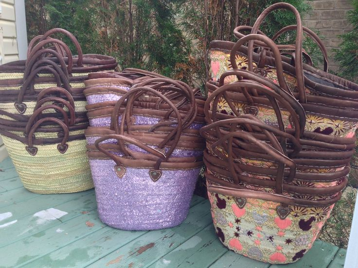 So beautiful!  Natural Basket, Everything Basket in Purple, Love Basket in Pink  #one1earth