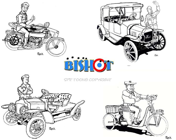 Croquis série BD BISHOT - illustrations David Voileaux copyright