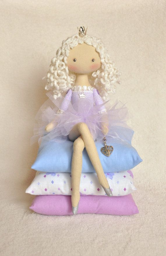 Princess on the Pea cloth doll  handmade doll  art от NilaDolss