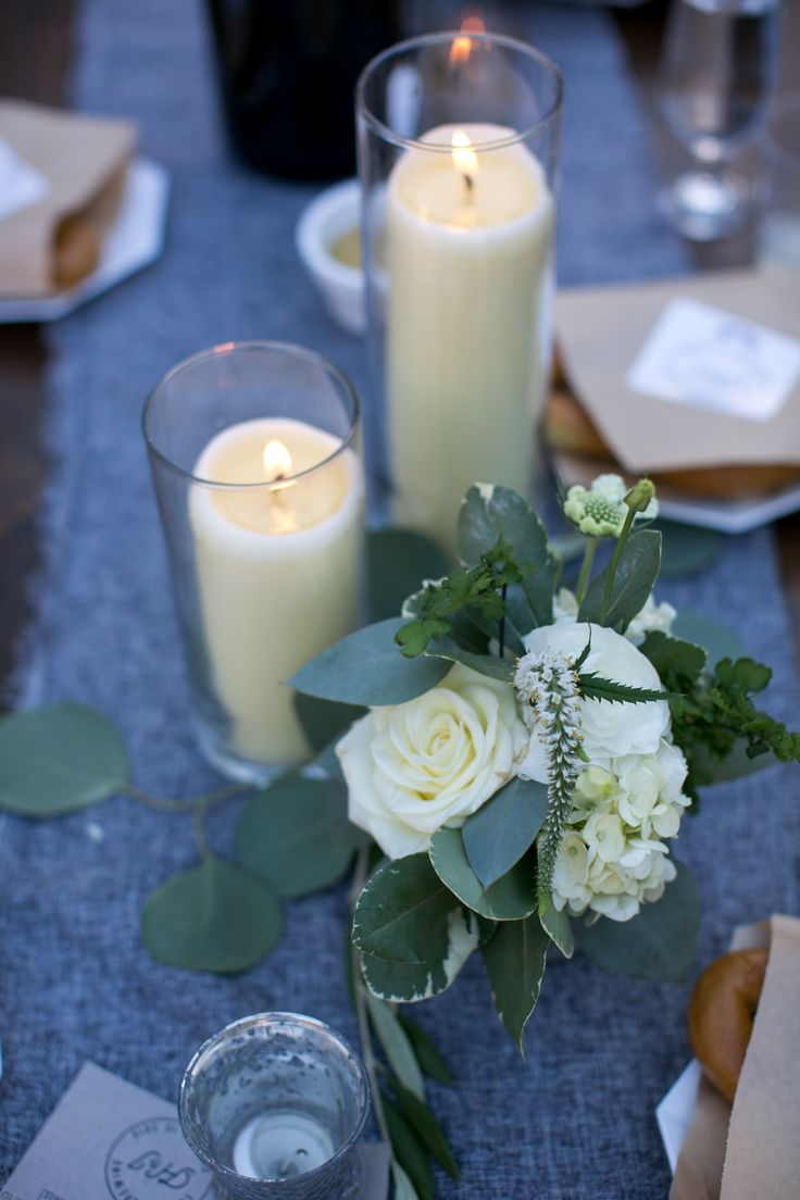 Candle light and white wedding floral. Design by Nina with By Request. www.byrequest.us