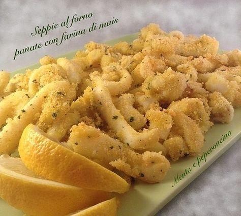 """Un secondo gustoso e leggero... queste sono le """"Seppie al forno panate con farina di mais"""", in poche mosse realizzerete un piatto squisito!"""