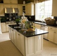 White Cabinets White Floor Dark Counters