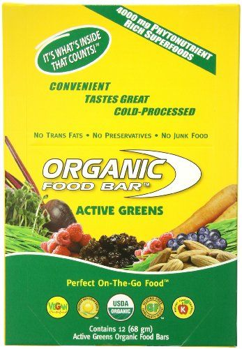 Organic Food Bar, Active Greens, 2.4 Ounce (Pack of 12) - http://goodvibeorganics.com/organic-food-bar-active-greens-2-4-ounce-pack-of-12/