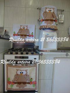 Ronilda: Decoração . Coruja pano de prato capa de galão e p...
