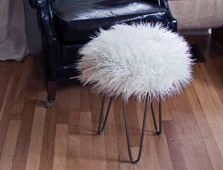 Diy Faux Fur Stool Must Make Asap Pinterest Projects