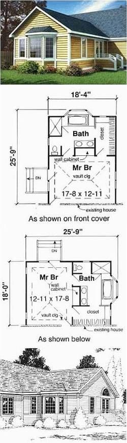 Master Suite Addition Plans | Master Bedroom Addition Plans (18ft x 24ft)