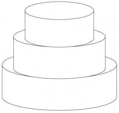 kleurplaat lege taart