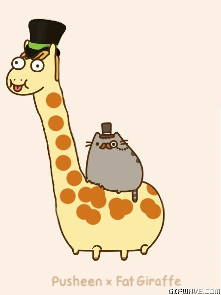 pusheen the cat moving pictures - Google Search