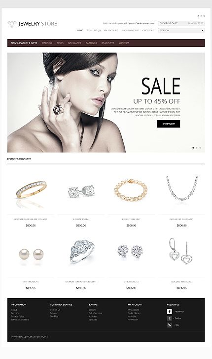 Template 41475 - Jewelry Store OpenCart Template