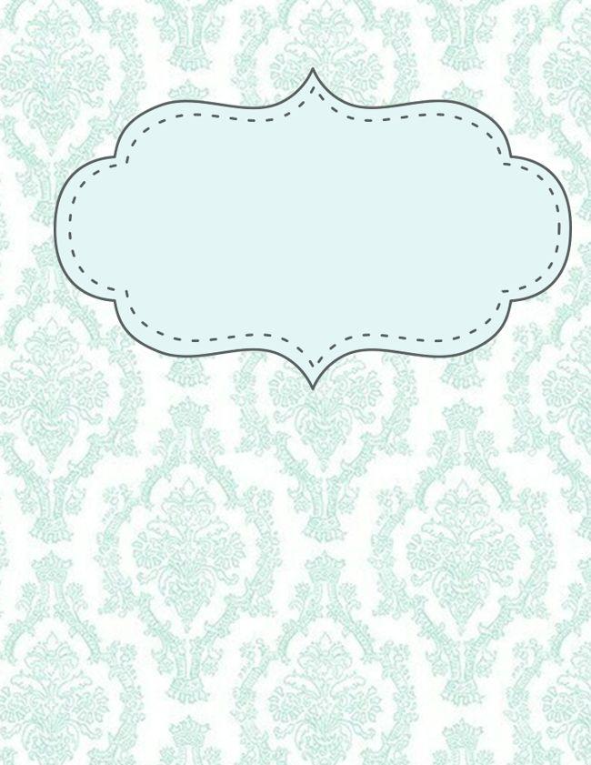 portadas para imprimir decoración de cuadernos Fondos.  Alejandra Inagas.