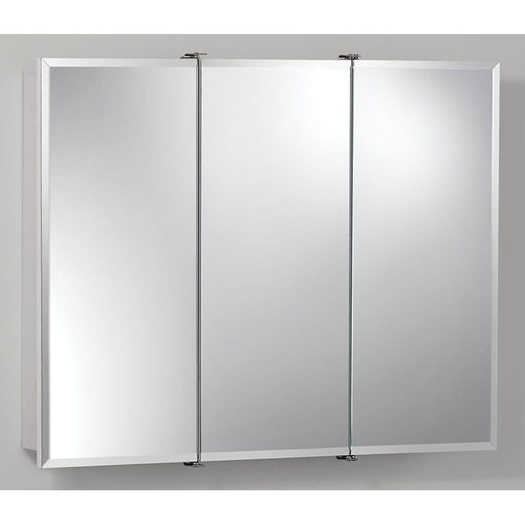 Jensen Medicine Cabinet Ashland Tri-View 30W x 26H in. Surface Mount Medicine Cabinet 755280 - 755280