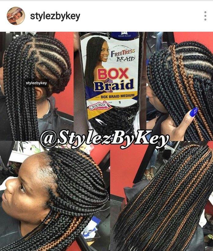 Crotchet box braids #freetress box braids