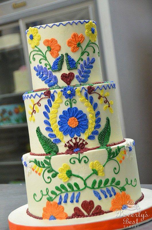 Spanish Tile Wedding Cake By Beverlys Bakery