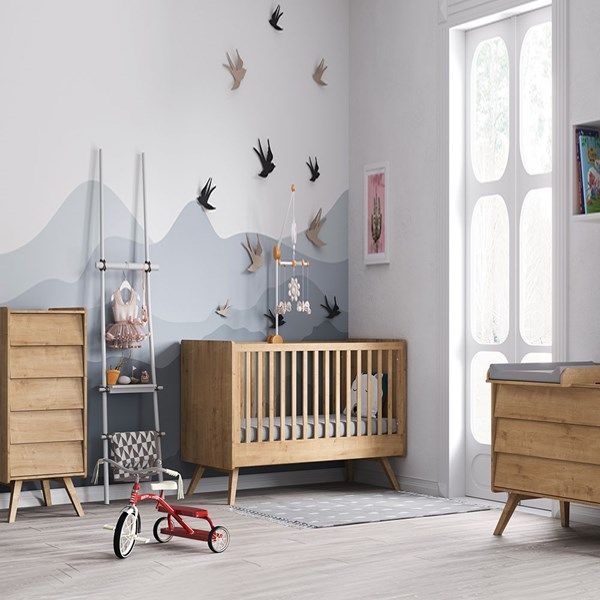 Vox Vintage 3 Piece Cot Bed Nursery Set In A Choice Of Oak Or 5
