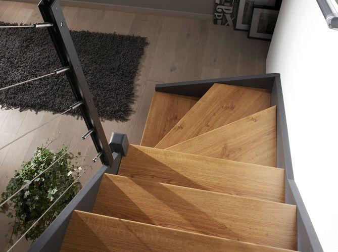 1000 ideas about escalier exterieur bois on pinterest - Escalier bois gris ...