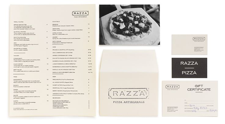 Razza Pizza Artigianale Stationery, The O Group