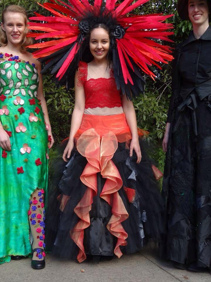 Volcano inspired wearable art
