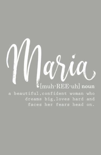 "Personalized ""Maria"" Journal for women - Maria name Gifts - Blank Journal Notebook - Gifts for Maria - Maria Name Meaning - Personalized Gifts for Women - Journal for Women"