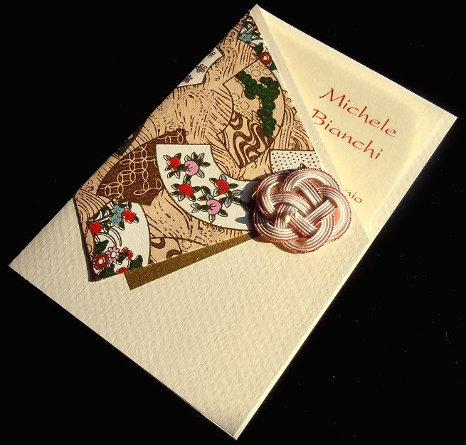 Origianl Washi Paper Wedding Invitations