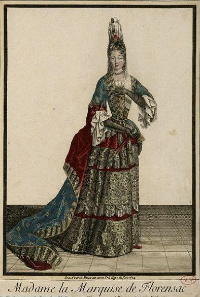 Madame la Marquise de Florensac by Antoine Trouvain,1694