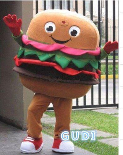 Hamburger cartoon advertisements mascot costumes Halloween party adult size