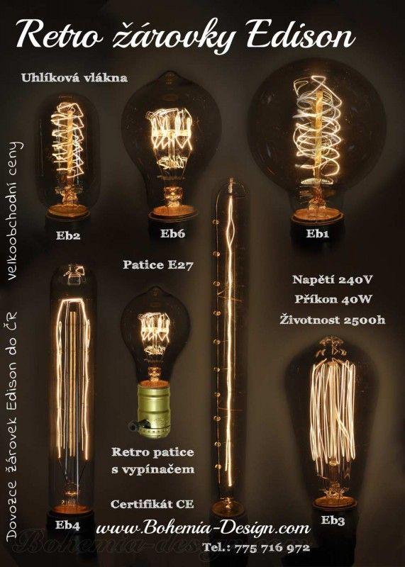 Retro žárovka Edison