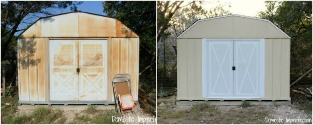How To Paint A Rusty Metal Shed How To Paint Back To