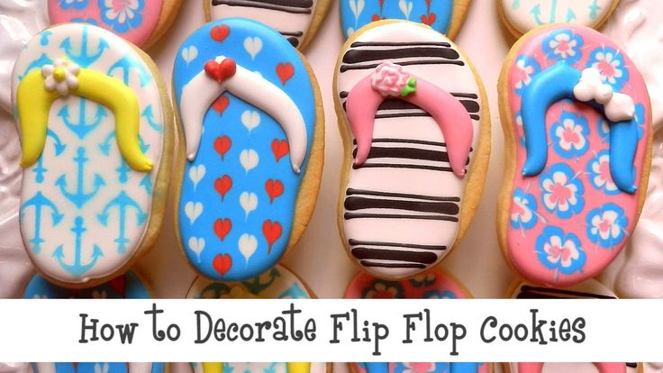 Summertime and the decorating is easy! Check out these 4 techniques to create cute flip flop cookies!